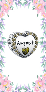 August Birthstone Charms