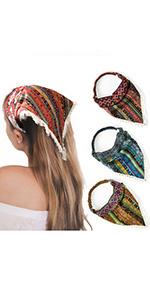Boho Hair Bandanas Head Kerchief