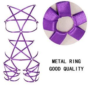 Harness Bra Set+purple