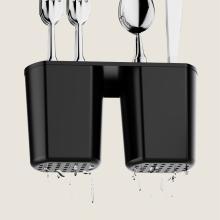 dish rack with utensil holder