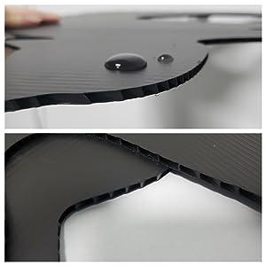 Premium waterproof 4mm corrugated black plastic
