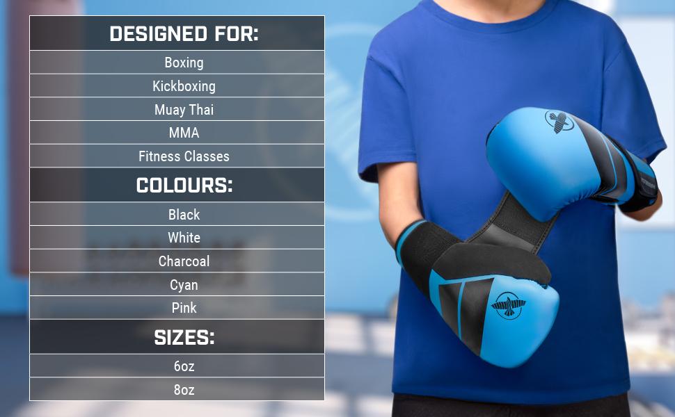 Youth Wearing Hayabusa S4 Kids Boxing Gloves