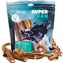SuperCan Bully Sticks 6-inch variety pack dogs treats braided bully ring bully best bully stciks