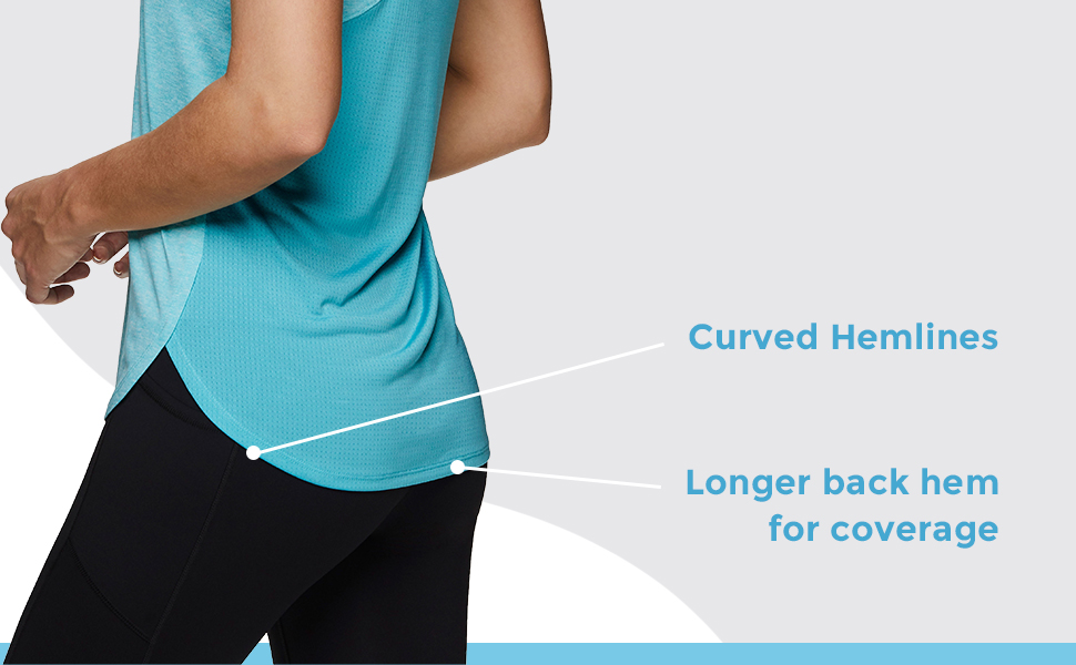 Curved Hemlines, Longer Back Hem for Coverage
