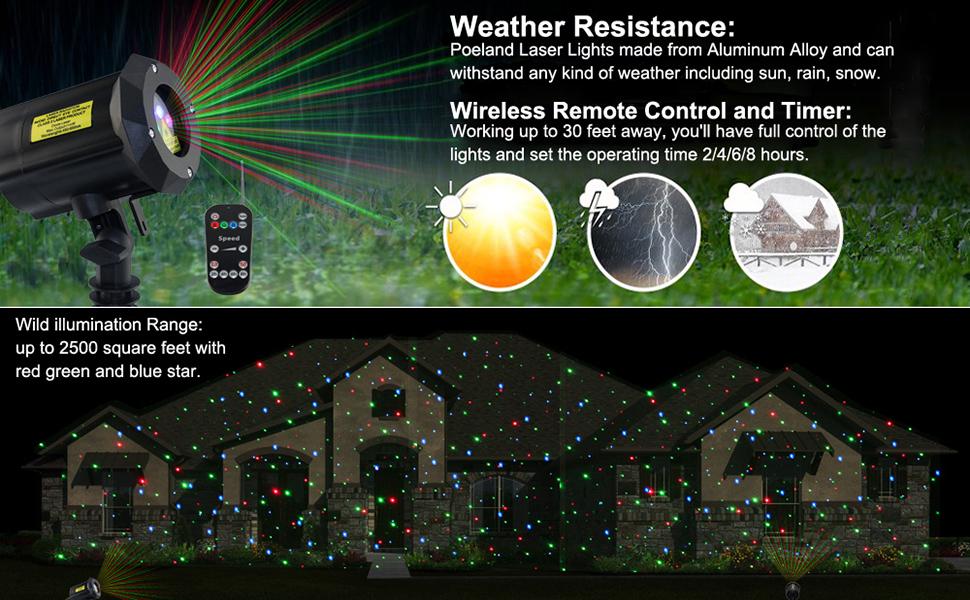 Outdoor Garden Laser Lights Waterproof Christmas Projector Lighting