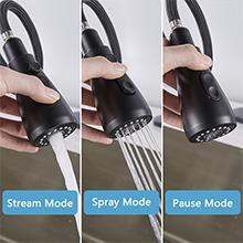 Three water flow modes
