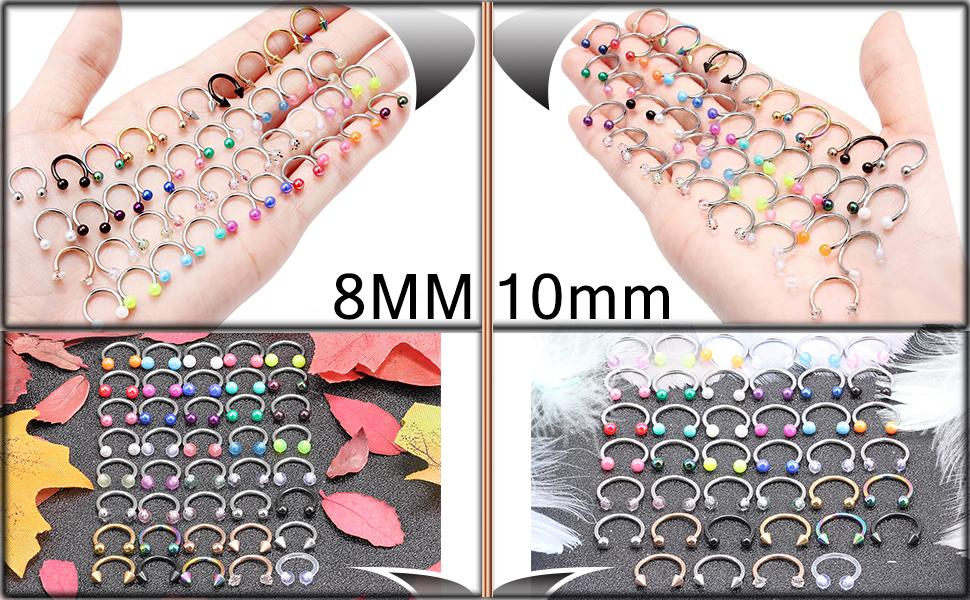 8mm Septum Jewelry,10MM Septum Jewelry,8mm Piercing Jewelry,10MM Piercing Jewelry
