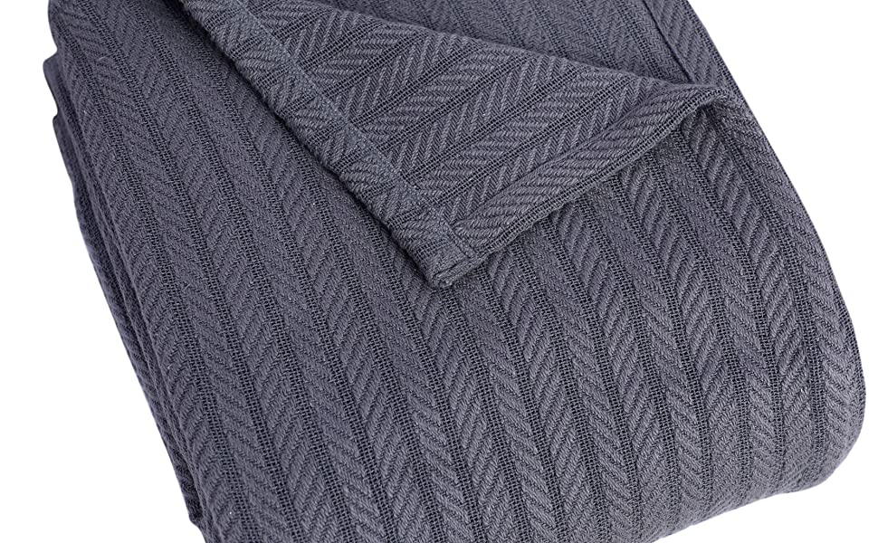 Grey Cable Blanket