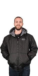Freeze Defense Mens Warm Quilted Winter Jacket Coat