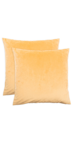 20 pillow covers kaf home throw decorative machine washable set of 2 two velvet