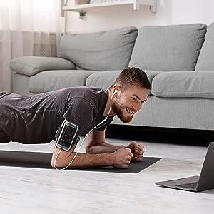armband arm band sleeve strap elastic phone holder mat yoga home gym exercise stretching