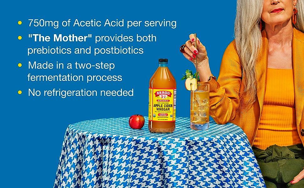 750mg of Acetic Acid per serving