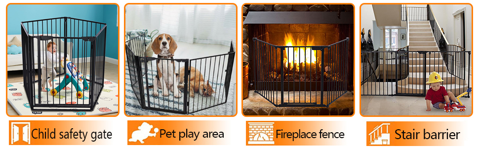 baby gate kids pet gates stair stove fireplace fence wide dog gate