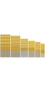 60 pcs 3/64amp;amp;amp;amp;#34;-1/8amp;amp;amp;amp;#34; Wood Drill Bit Sets Small Drill Bit