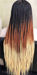 Ombre Black to Brown to Beige