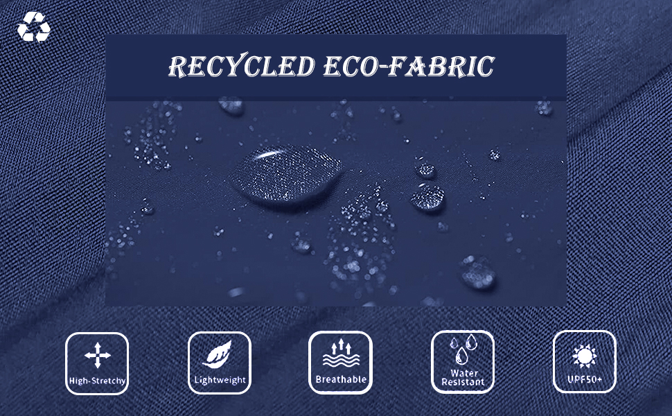 88% recycled polyester/12% spandex Eco-fabric