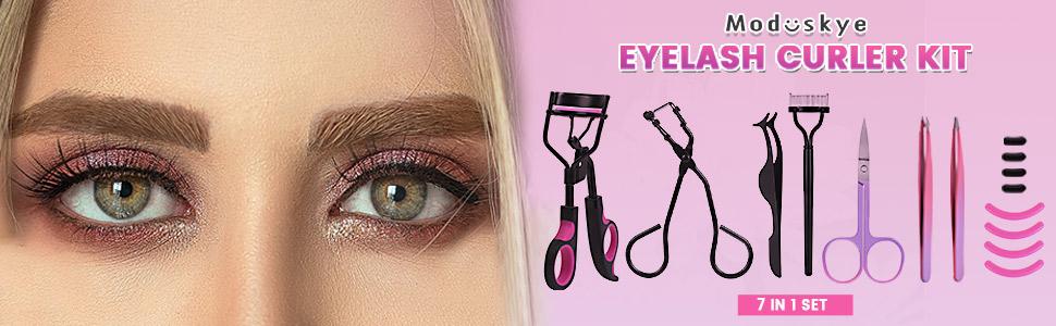 eyelash curler  eyelash curler for women Moduskye 7 IN 1 Lash Curler Kit with Refill Pads  eye lash