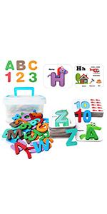 Wooden Alphabet Letters and Numbers with abc sight words flash