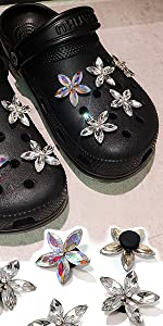 Rhinestone shoe charms