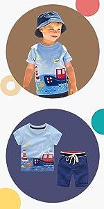 conjunto corto de verano para bebés varones