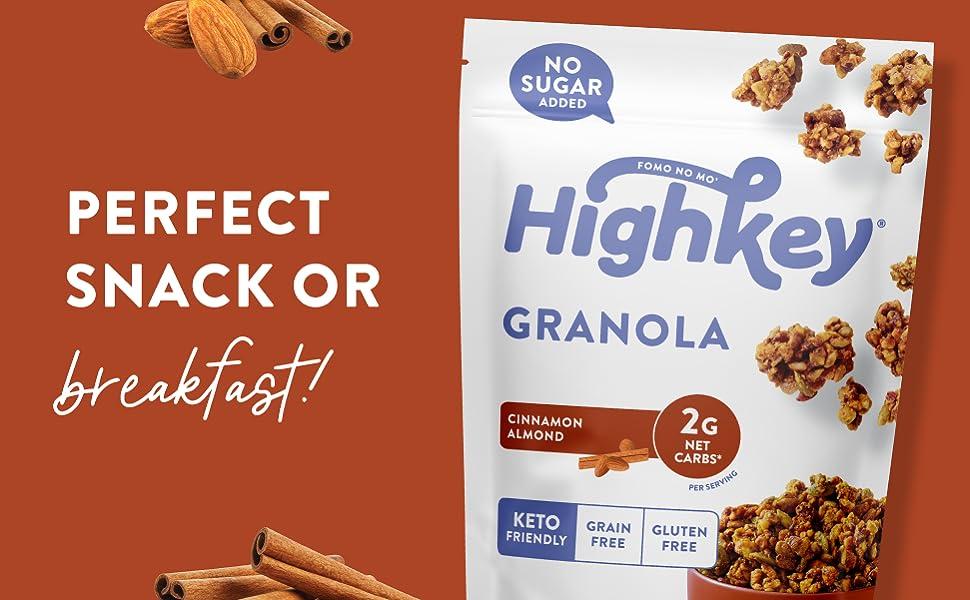 keto granola low carb granola low sugar granola keto breakfast keto treats keto cinnamon granola