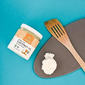 RBD coconut oil with spatula
