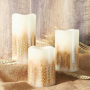 Real Wax Pillar Candles