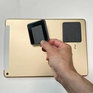 再取り付け可能粘着時で、貼ってはがせるノートパソコンスタンド