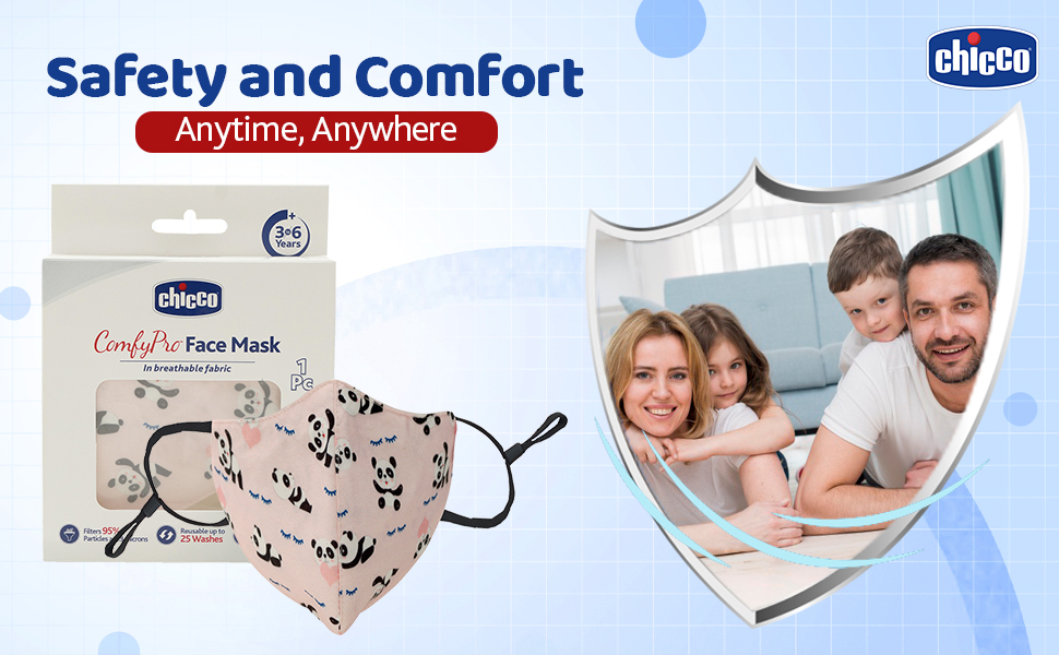 Chicco Face Mask, Safe, comfortable, Protective mask, protection from germs