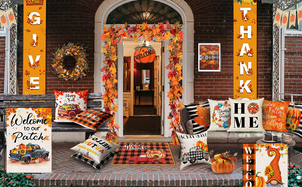 pillow covers 18x18 fall