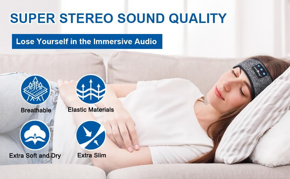 sport headband sleep headphones