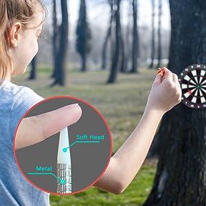 Safety dart board safe for children