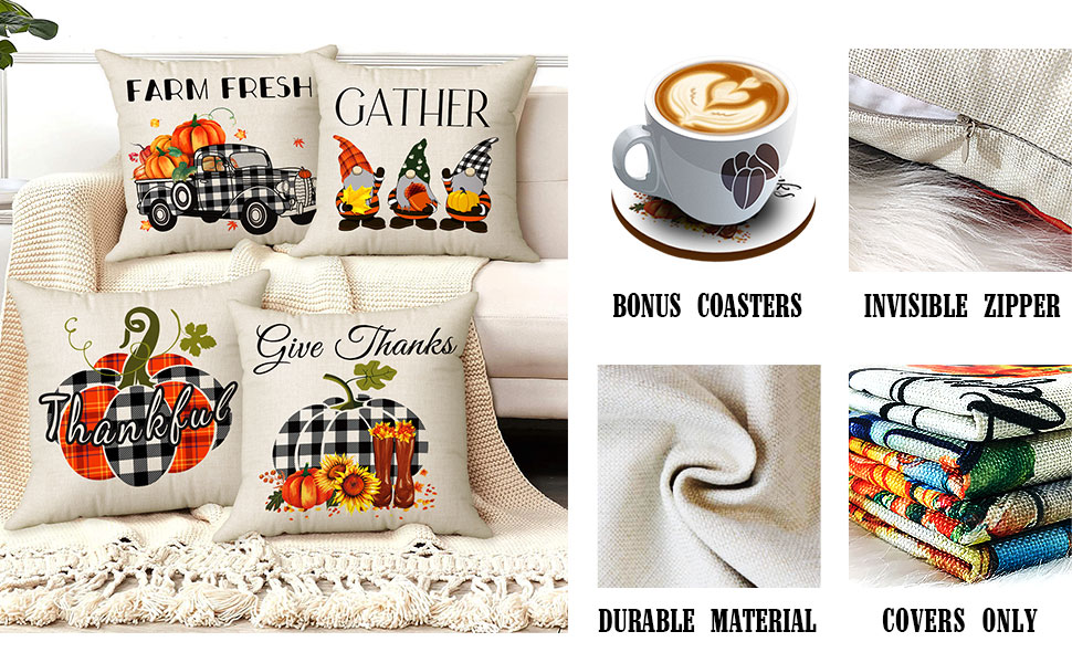 fall pillow covers set