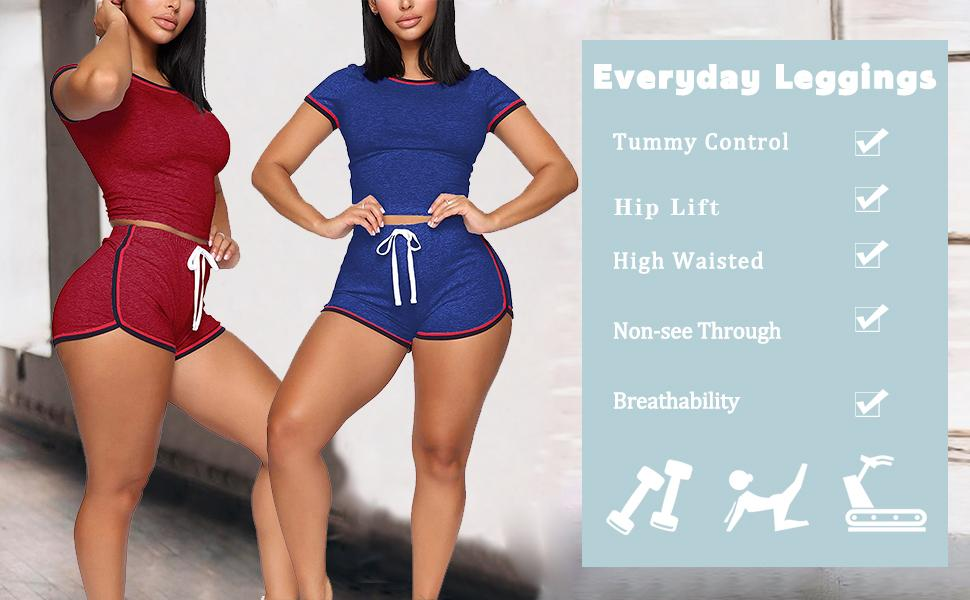Loose tops and sexy bodycon shorts ,Dress it up or keep it casual. pefect for all seasons Soft