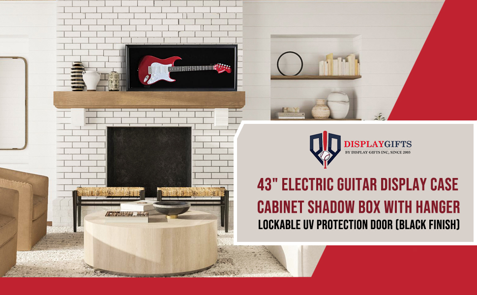 Electric Guitar Display Case  Cabinet