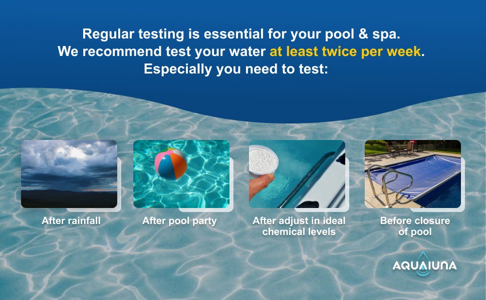 Test your water at least twice per week