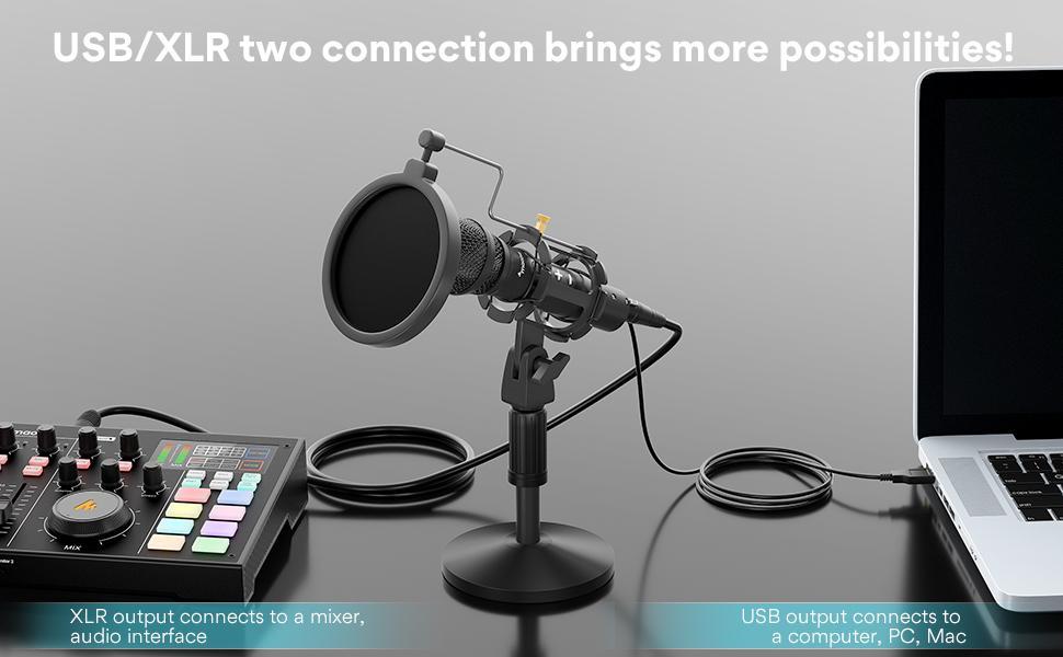 dynamic microphone with USB/XLR