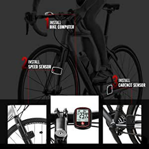 Bike Computer Wireless Speed Cadence Sensor Bike Speedometer Odometer Bicycle Computer Speed Tracker