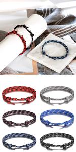 6PCS handmade bracelets for men