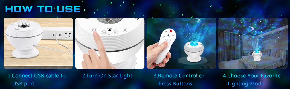 USB Star Night Light is easy to use