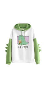 Women's Dinosaur Pullover Hoodie