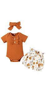 Baby Girl Romper Shorts
