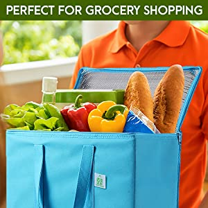 VENO insulated grocery shopping bag, heavy duty, thermal bag, cooler bag, heavy duty and large size