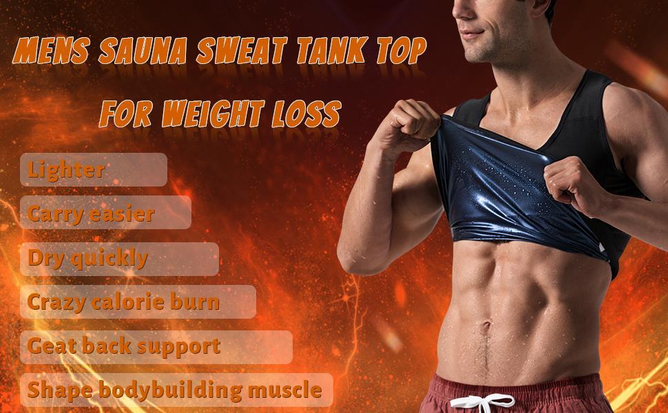 sauna vest sweat tank top weight loss workout shirt