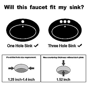 Anpean single hole bathroom faucet-