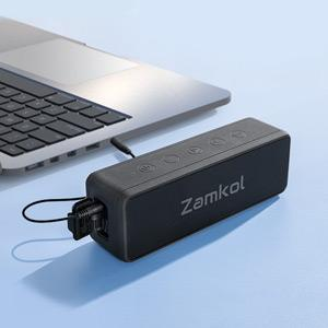 The device can be connected via a 3.5mm audio cable