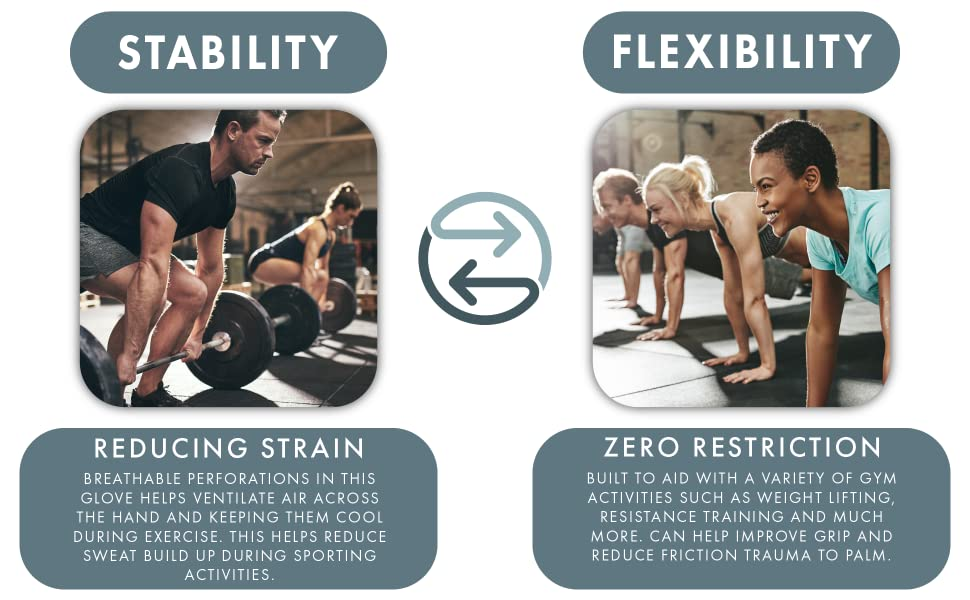 Stability and Flexibility. Reducing Strain with zero restriction.