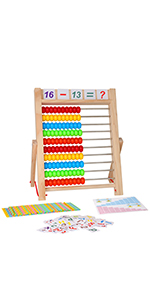 wooden abacus, learning toy