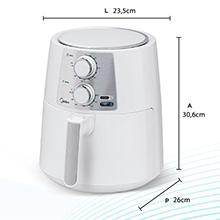 Fritadeira Elétrica Airfryer Midea sem óleo manual 4L saudável Inox