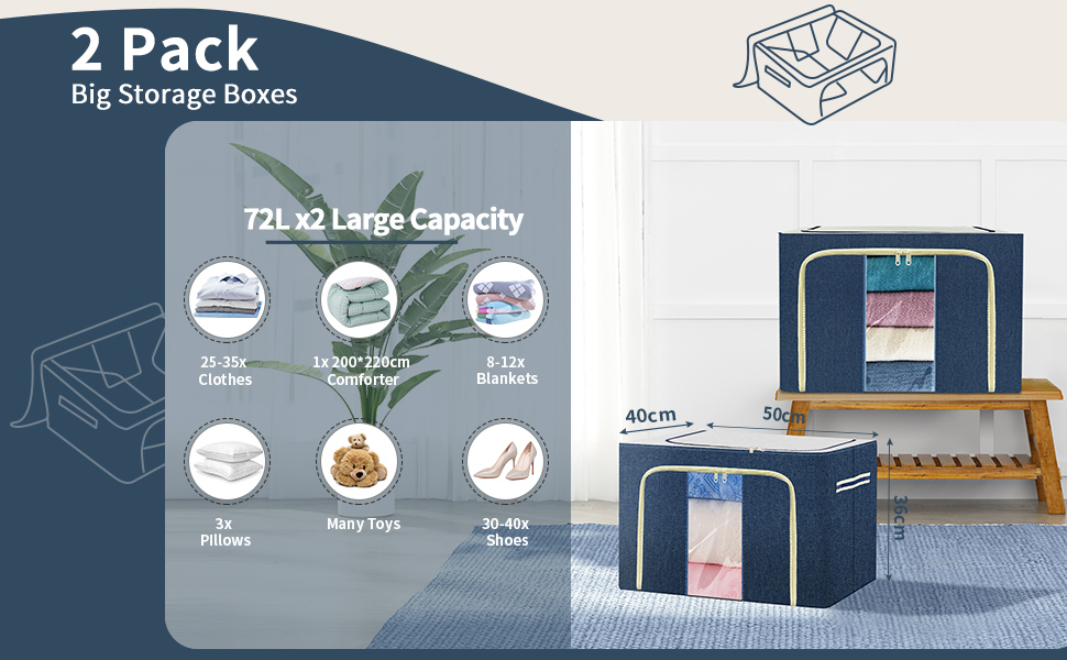 03 large capacity clothes storage bags